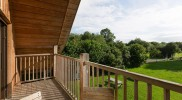 spacious balcony with lovely countryside views
